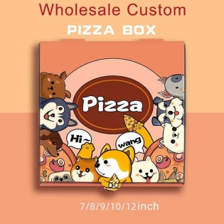 Wholesale Pizza Packaging boxes Disposable 7/8/9/10/12Inch Custom Printed Pizza Boxes